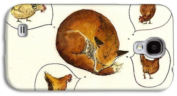 Dreaming Fox Galaxy S4 Case by Juan  Bosco