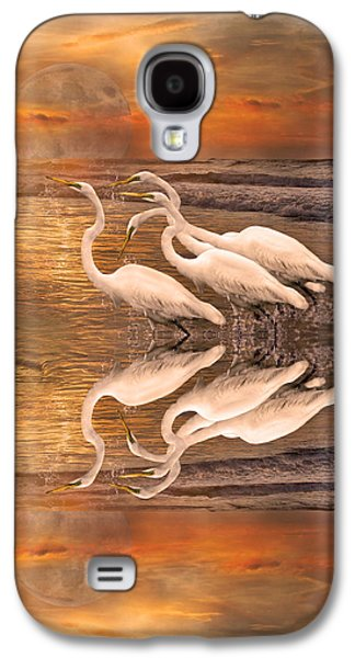 Dreaming Of Egrets By The Sea Reflection Galaxy S4 Case by Betsy Knapp