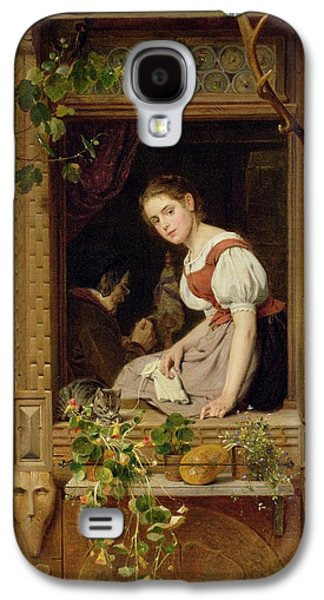 Dreaming On The Windowsill Galaxy S4 Case by August Friedrich Siegert