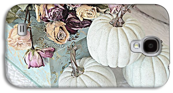 Dreamy Dried Roses Shabby Chic Cottage Autumn Fall Pastel Pumpkin Art  Galaxy S4 Case