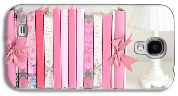 Dreamy Romantic Books Collection - Shabby Chic Cottage Chic Pastel Pink Books Photograph Galaxy S4 Case