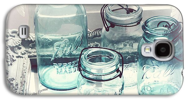 Dreamy Shabby Chic Vintage Ball Mason Atlas Jars - Aqua Blue Vintage Mason Ball Jars Galaxy S4 Case