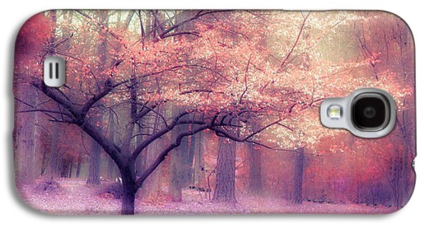 Dreamy Surreal Fall Autumn Ethereal Trees Nature Landscape South Carolina Nature Landscape Galaxy S4 Case by Kathy Fornal