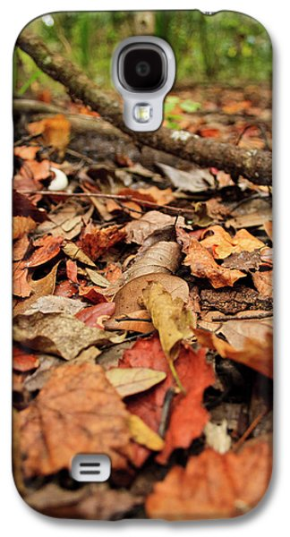 Dried Leaves On The Ground Galaxy S4 Case by � Marcela Montano - Vwpics