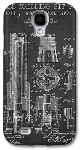 Drilling Bit For Oil Water Gas Patent From 1920 - Dark Galaxy S4 Case by Aged Pixel