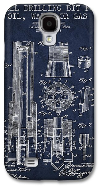 Drilling Bit For Oil Water Gas Patent From 1920 - Navy Blue Galaxy S4 Case by Aged Pixel