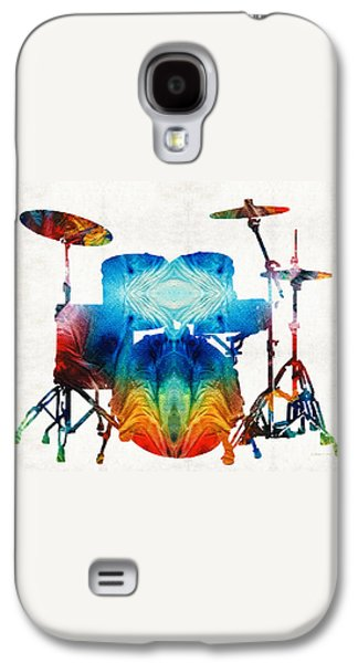 Drum Galaxy S4 Case - Drum Set Art - Color Fusion Drums - By Sharon Cummings by Sharon Cummings