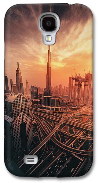 Travel Galaxy S4 Case - Dubai's Fiery Sunset by David George