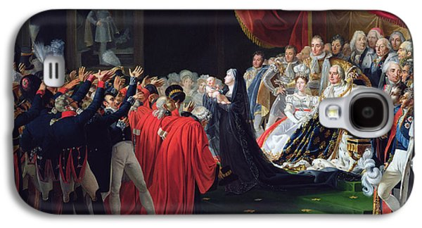 Duchess Of Berry Presenting The Duke Of Bordeaux To The People And The Army Galaxy S4 Case by Charles Nicolas Raphael Lafond