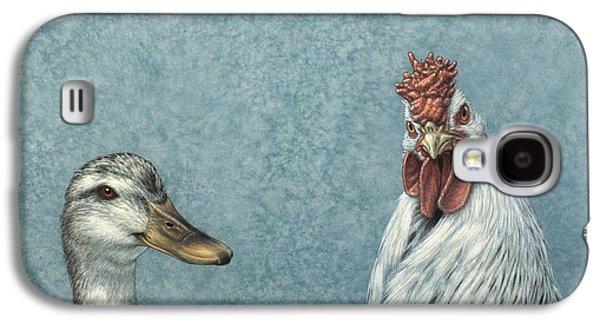 Duck Galaxy S4 Case - Duck Chicken by James W Johnson