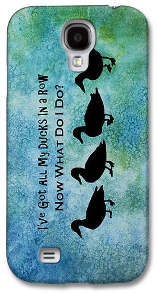 Ducks In A Row Galaxy S4 Case by Jenny Armitage
