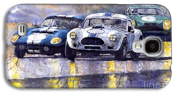 Duel Ac Cobra And Shelby Daytona Coupe 1965 Galaxy S4 Case by Yuriy  Shevchuk
