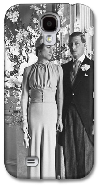 Duke And Duchess Of Windsor Galaxy S4 Case by Underwood Archives