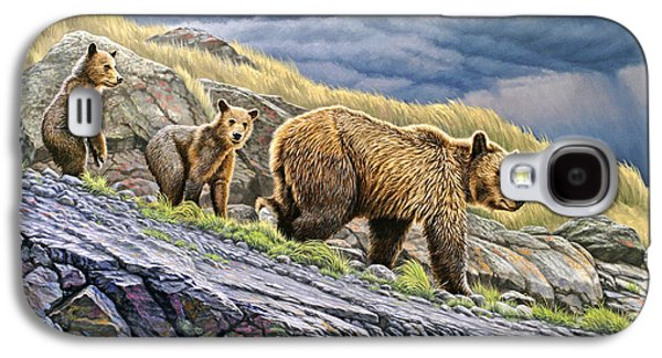 Dunraven Pass Grizzly Family Galaxy S4 Case by Paul Krapf
