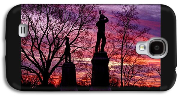 Durell's Independent Battery D And 48th Pa Volunteer Infantry-a1 Sunset Antietam Galaxy S4 Case by Michael Mazaika