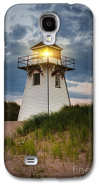 Dusk At Covehead Harbour Lighthouse Galaxy S4 Case