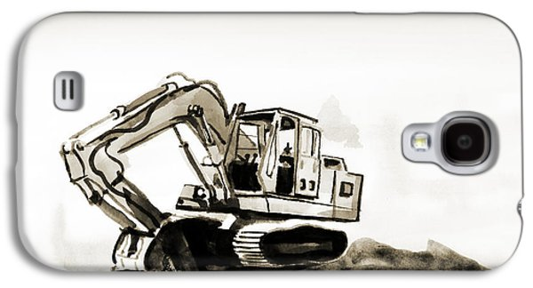 Duty Dozer In Sepia Galaxy S4 Case by Kip DeVore