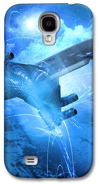 E-8 Joint Stars---blue Space Galaxy S4 Case