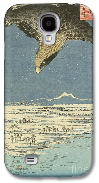 Eagle Over One Hundred Thousand Acre Plain At Susaki Galaxy S4 Case by Hiroshige