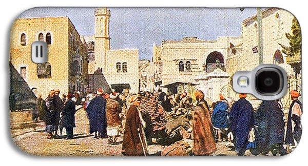 Early 19th Century Bethlehem Market Galaxy S4 Case by Munir Alawi