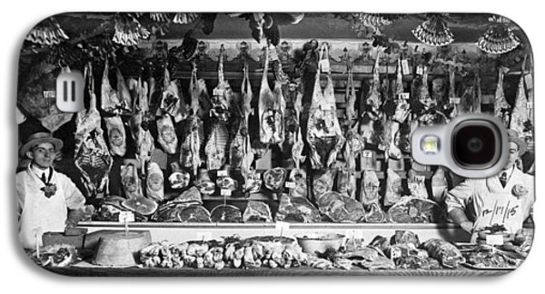 Early Butcher Shop Galaxy S4 Case by Underwood Archives