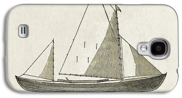 Early Canoe Sketch Galaxy S4 Case by Gary Bodnar