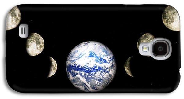 Earth And Phases Of The Moon Galaxy S4 Case by Bob Orsillo