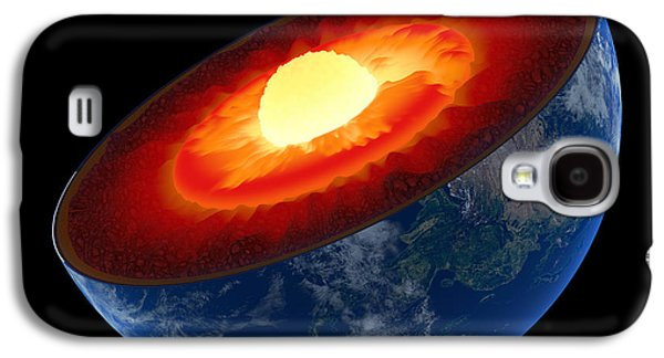 Earth Core Structure To Scale - Isolated Galaxy S4 Case
