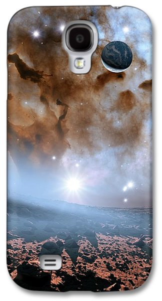 Earth-like Alien Planet And Nebula Galaxy S4 Case