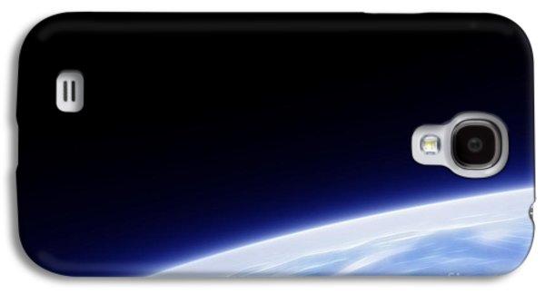 Earth Orbit Fractal Galaxy S4 Case