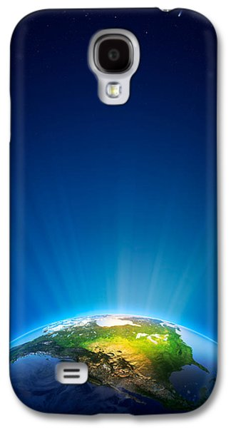 Earth Radiant Light Series - North America Galaxy S4 Case