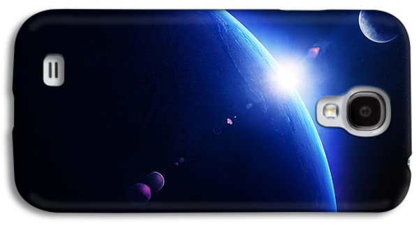 Earth Sunrise With Moon In Space Galaxy S4 Case