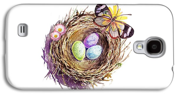 Easter Colors Bird Nest Galaxy S4 Case