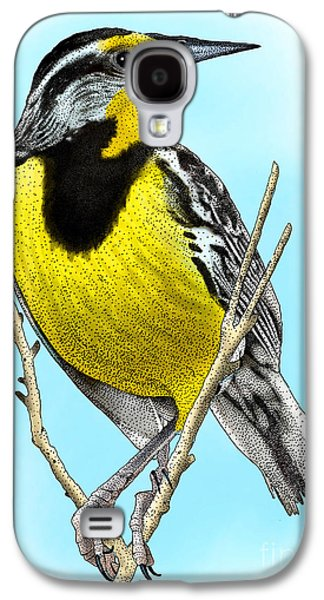 Eastern Meadowlark Galaxy S4 Case by Roger Hall