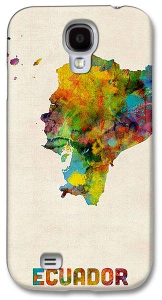 Ecuador Watercolor Map Galaxy S4 Case by Michael Tompsett