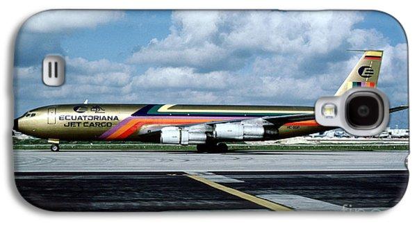 Ecuatoriana Jet Cargo Boeing 707-321c Hc-bgp Galaxy S4 Case by Wernher Krutein