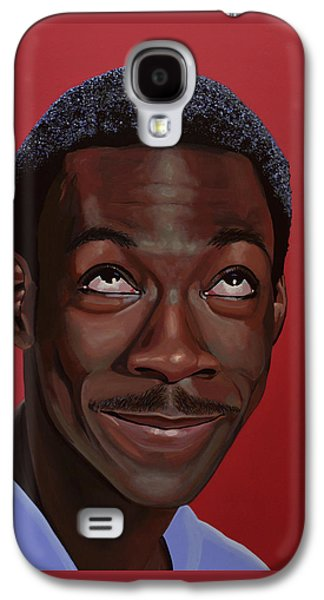 Eddie Murphy Painting Galaxy S4 Case by Paul Meijering