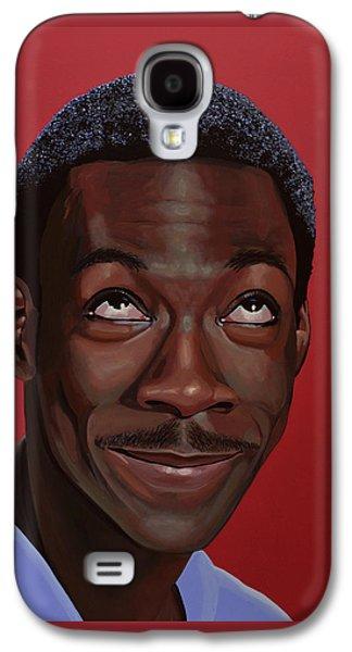 Eddie Murphy Painting Galaxy S4 Case by Paul Meijering