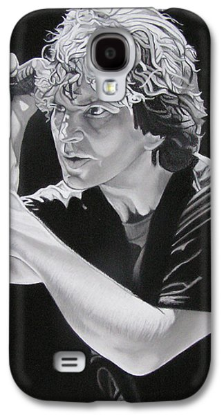 Eddie Vedder Black And White Galaxy S4 Case by Joshua Morton