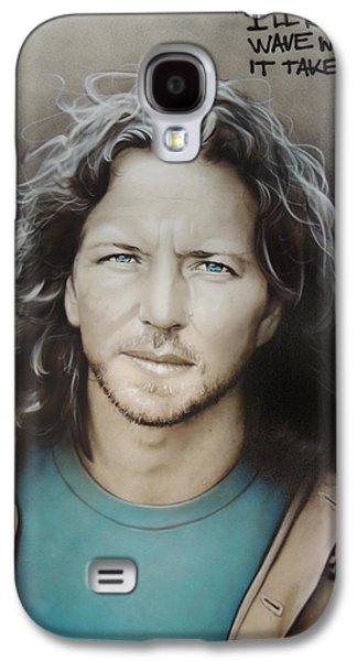 ' Eddie Vedder ' Galaxy S4 Case by Christian Chapman Art