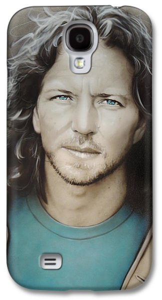 Pearl Jam Galaxy S4 Case - Eddie Vedder by Christian Chapman Art
