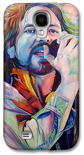 Seattle Galaxy S4 Case - Eddie Vedder In Pink And Blue by Joshua Morton