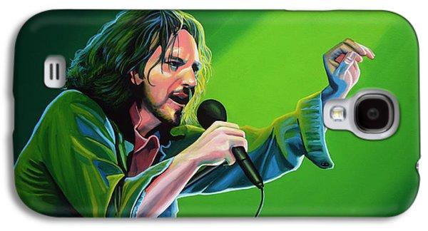 Eddie Vedder Of Pearl Jam Galaxy S4 Case by Paul Meijering