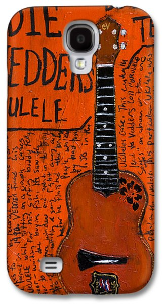 Eddie Vedder Ukulele Galaxy S4 Case by Karl Haglund