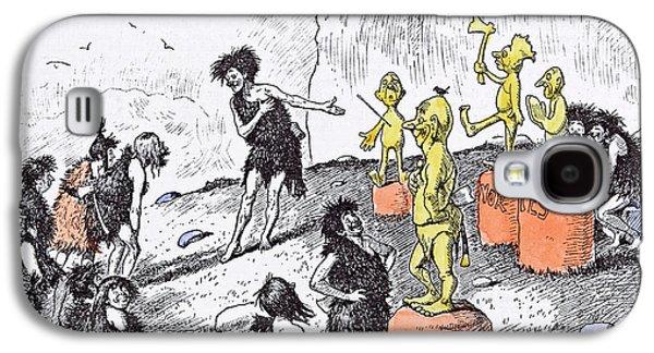 Edward Tennyson Reed 1860 1933 Prehistoric Peep Galaxy S4 Case by Reed, Edward Tennyson (1860-1933), British