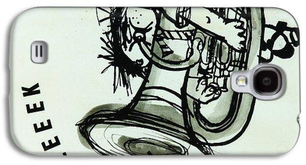 Trombone Galaxy S4 Case - Eeeeeeek! Ink On Paper by Brenda Brin Booker