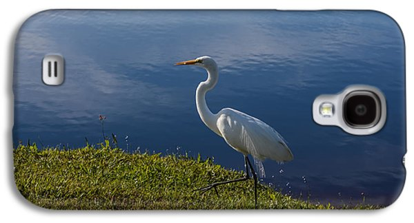Egret Galaxy S4 Case - Egret At The Lake by Zina Stromberg