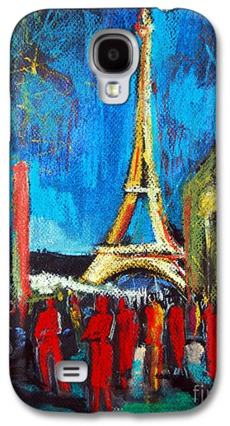 Eiffel Tower And The Red Visitors Galaxy S4 Case by Mona Edulesco