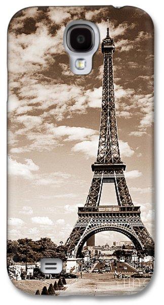 Eiffel Tower In Sepia Galaxy S4 Case by Elena Elisseeva