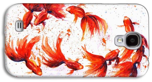 Eight Dancing Goldfish  Galaxy S4 Case
